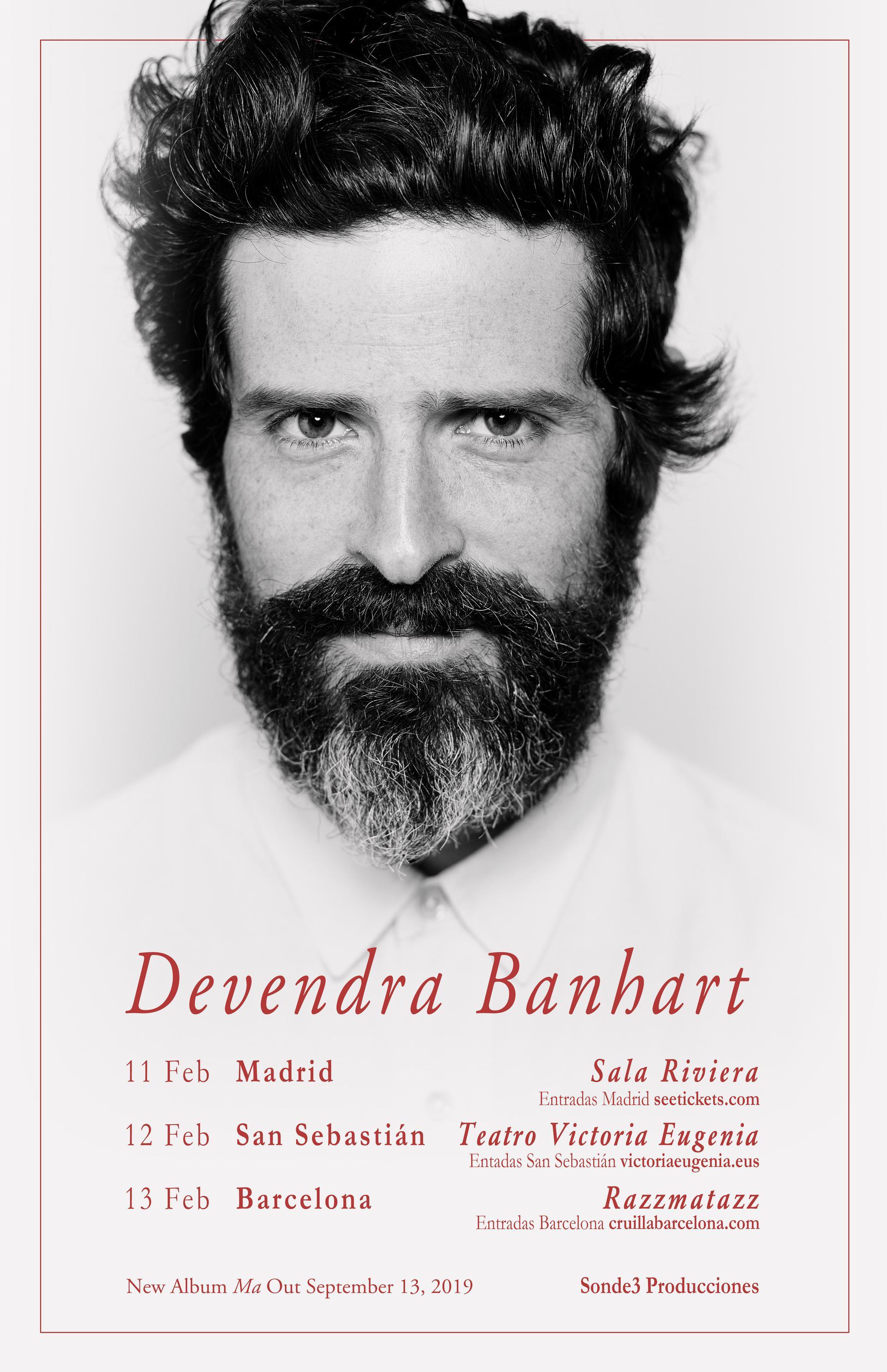 Devendra Banhart presenta «MA» en la Sala Riviera de Madrid el 11 de febrero